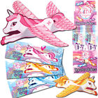 UNICORN GLIDER PLANES FLYING GIRLS TOY PRIZES GIFT BIRTHDAY PARTY BAG FILLERS