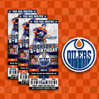 Edmonton Oilers Ticket Style Custom Sports Party Invitations