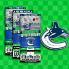 Vancouver Canucks Ticket Style Sports Party Invites $25.0 USD on eBay