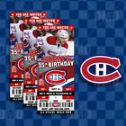 Montreal Canadiens Ticket Style Sports Party Invites $35.0 USD on eBay