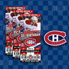 Montreal Canadiens Ticket Style Sports Party Invites $60.0 USD on eBay