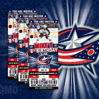 Columbus Blue Jackets Ticket Style Sports Party Invites $25.0 USD on eBay