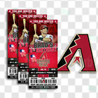 Arizona Diamondbacks Ticket Style Sports Party Invites on Ebay