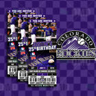 Colorado Rockies Ticket Style Sports Party Invites on Ebay