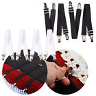 Hot Fitted Bed Mattress Sheet Clips Grippers Straps Suspender Fasteners Holder image