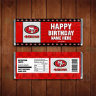 San Francisco 49ers Sports Party Candy Bar Wrappers on eBay