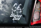 Status Quo - Car Window Sticker -  Band Hard Rock & Roll LP Decal Sign - V02