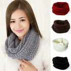 Women Winter Warm Infinity Circles Cable Knit Scarf Cowl Neck Scarives Wrap