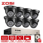 ZOSI 8CH 1080N 720P DVR CCTV Camera Outdoor Home Security System Wired Video 1T New