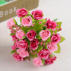 US Stock 21Pcs Artificial Fake Silk Flower Home Party Wedding Decoration Bouquet