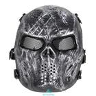 Halloween Airsoft Paintball Tactical Full Face Protection Skull Mask Skeleton UK