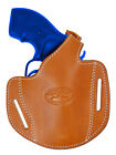 "New Barsony Tan Leather Pancake Holster for Ruger 2"" Snub Nose Revolvers"