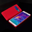 S-CH For Samsung Galaxy Note 5/4 phone case Leather Card Pocket TPU stand Flip