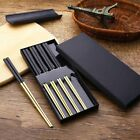 Stainless Steel Chopsticks Set Authentic Chinese Japanese Metal Tableware Gift