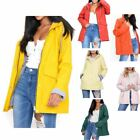 Women's Waterproof Rain Mac Coat Festival  Hooded Jacket White
