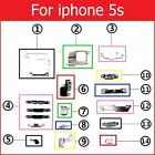 Inner Metal iron parts For iPhone 4 4s 5 5c 5s holder  bracket shield plate set