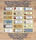 "30 Personalized 2 5/8"" by 1"" Holiday Christmas Winter 1 Return Address Labels $3.09 USD on eBay"