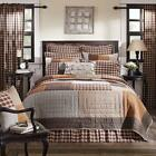 6PC RORY COUNTRY PRIMITIVE CABIN PATCHWORK QUILT SHAMS PILLOWS CASES BED SET VHC