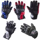 Viper Rider Motorcycle Bike Viera Gloves Summer Short Leather Textile Men's New