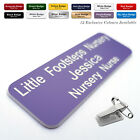 COMBI CLIP & PIN Custom Engraved Name Badge Doctor Care Assistant Support Worker