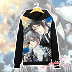 Anime Black Butler Ciel Sebastian Coat Unisex Hoodie Jacket Sweater Cosplay #K32