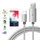 Bluetooth Handsfree FM Transmitter USB Car Charger 3.1A Cable for iPhone Android