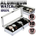 Aluminium & Leather Watch Display Storage Box Case Tray Watch Collector Case