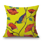 Oil Paintings Birds Cushion Cover Pillow Case Cotton Linen Sofa Car Home Decor