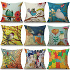 Внешний вид - Oil Paintings Birds Cushion Cover Pillow Case Cotton Linen Sofa Car Home Decor