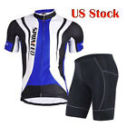 Cycle Jersey Gym Sports Bike Spinning Shorts Sets Men Bike Shirts Half Pants Pad