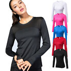 Women's Compression Tops Running Jogging Yoga Dri-fit Athletic Base Layer Shirts