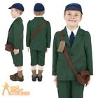 Child Wartime School Boy Costume 1940s Book Week Fancy Dress Outfit WW2