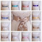 "PLAIN 2"" PALE SATIN SASH FABRIC WRAP BELT SELF TIE BOW BRIDAL PARTY FANCY DRESS"