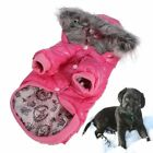 Dog Winter Coat Pet Hoodie Jackets Snowsuit Clothes Santa Ski Vest Waterpoof Hot