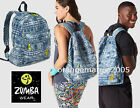 Zumba BackpacK Bag Tote/Duffel Gym Travel -Denim Daze Let's Escape DURABLE ROOMY