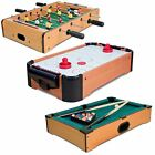 Mini Table Top Pool Air Hockey Football Foosball Soccer Family Games Toy Gift