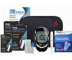 Blood Glucose Monitor Full Meter Kit Sugar Diabetic 110/60 Test Strips & Lancets