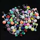 """Wholesale Lot Tongue, Navel Belly Button Ring 14g 5/8"""" SS..."""