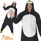 Adult Penguin Jump Suit Animal Fancy Dress Zoo Ladies Mens Costume by Smiffys