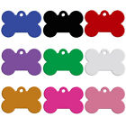 Внешний вид - 100pcs/Lot  Wholesale Bone Shape Blank Dog Tag Anodized Aluminum Bulk Tags S M L