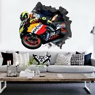 3D Motorcycle Driver 3 Wall Murals Wall Stickers Decal Breakthrough WALLPAPER AU