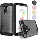 Shockproof Brushed Armor Slim Hard Case Cover + Tempered Glass Screen Protector