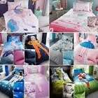 Kids Cartoon Character Childrens Duvet Quilt Cover Set, Fitted Sheet Polycotton