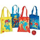 """SUPERHERO THEMED 10"""" x 12"""" Polyprophelene TOTE BAGS FOR GIFTS TOYS BOOKS SCHOOL"""