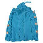 Newborn Baby Infant Knit Crochet Swaddle Wrap Swaddling Blanket Sleeping Bag US