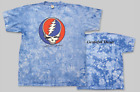 "GRATEFUL DEAD ""Steal Your Face"" Licenced T Shirt-Blue Crinkle-All Sizes image"