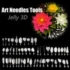 10PCS Gelatin Art Needles Tools Gracilaria Jelly 3D Pudding Cake Tool+Syringe PF