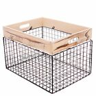 wire basket shelving