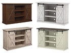 TV Stand Console Barn Door Rustic Wood Farmhouse Entertainment Center PICK COLOR