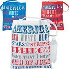 4TH OF JULY PATRIOTIC WORDS Red White & Blue TOTE BAGS LARGE POLYESTER  FIREWORK